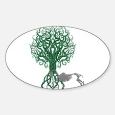 Green Celtic Tree of Life Decal