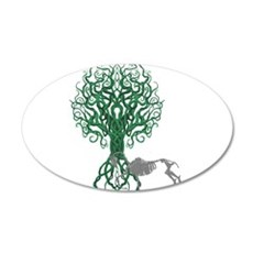 Green Celtic Tree of Life Wall Decal