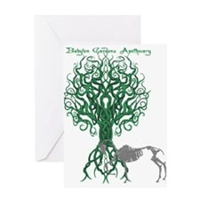 Green Celtic Tree of Life Greeting Cards
