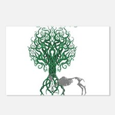 Green Celtic Tree of Life Postcards (Package of 8)