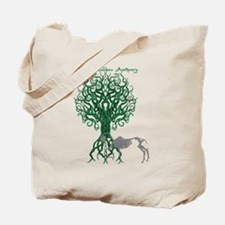 Green Celtic Tree of Life Tote Bag