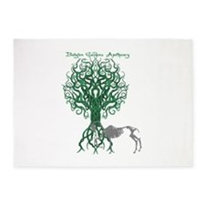 Green Celtic Tree of Life 5'x7'Area Rug