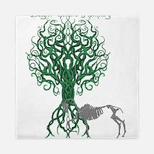 Green Celtic Tree of Life Queen Duvet
