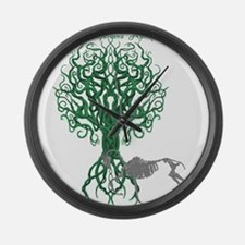 Green Celtic Tree of Life Large Wall Clock