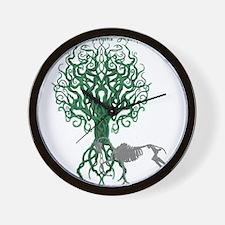 Green Celtic Tree of Life Wall Clock