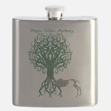 Green Celtic Tree of Life Flask