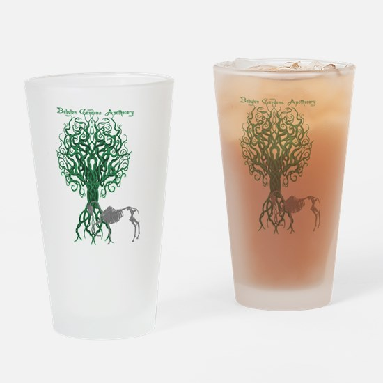 Green Celtic Tree of Life Drinking Glass