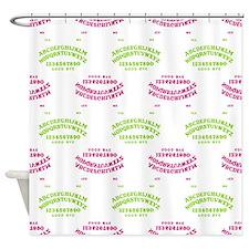 Talking Board Shower Curtain