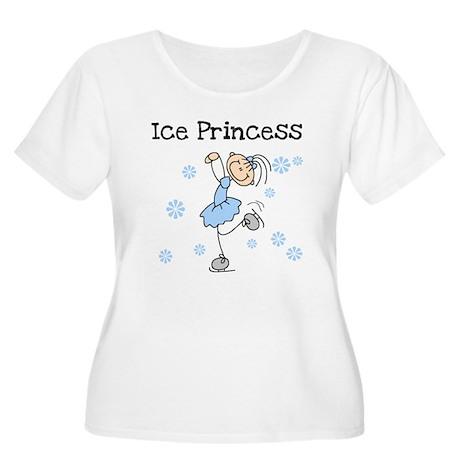 Ice Princess Women's Plus Size Scoop Neck T-Shirt