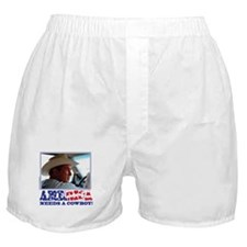 George W Bush - America Needs a Cowbo Boxer Shorts