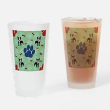 Cute Paw print Drinking Glass