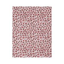Pink Leopard Animal Print Pattern Twin Duvet