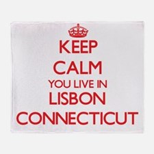 Keep calm you live in Lisbon Connect Throw Blanket