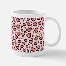 Pink Leopard Animal Print Pattern Mugs
