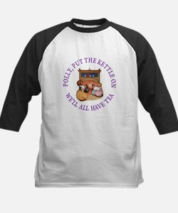 POLLY PUT THE KETTLE ON Kids Baseball Jersey