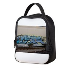 Blue hopper graf Neoprene Lunch Bag
