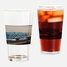 Blue hopper graf Drinking Glass
