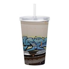 Blue hopper graf Acrylic Double-wall Tumbler