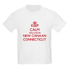 Keep calm you live in New Canaan Connectic T-Shirt