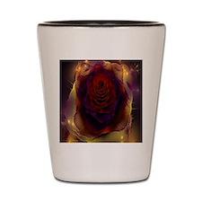 Fractal Rose Shot Glass