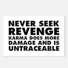 Never Seek Revenge Postcards (Package of 8)