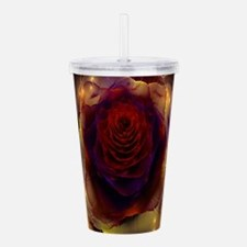 Fractal Rose Acrylic Double-wall Tumbler