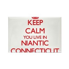 Keep calm you live in Niantic Connecticut Magnets
