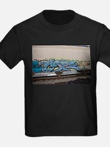Blue hopper graf T-Shirt