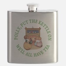POLLY PUT THE KETTLE ON Flask