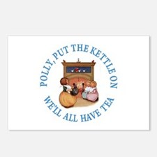 POLLY PUT THE KETTLE ON Postcards (Package of 8)