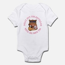 POLLY PUT THE KETTLE ON Infant Bodysuit