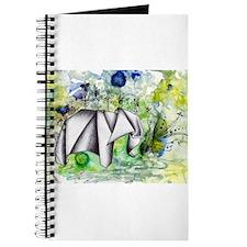 Origami Elephant Ink Wash Journal