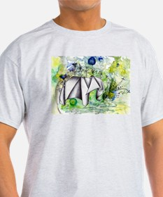 Origami Elephant Ink Wash T-Shirt
