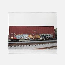 tag boxcar Throw Blanket