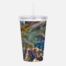 Colorful Cosmos Acrylic Double-wall Tumbler