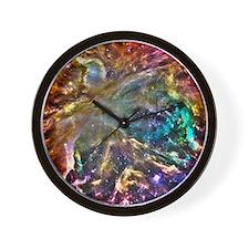 Colorful Cosmos Wall Clock
