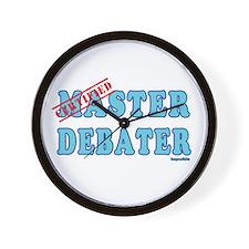Master Debater Wall Clock