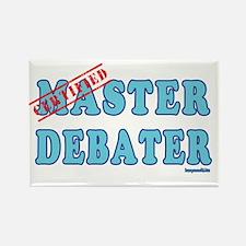 Master Debater Rectangle Magnet (10 pack)