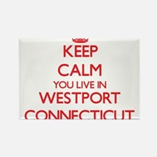Keep calm you live in Westport Connecticut Magnets