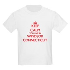 Keep calm you live in Windsor Connecticut T-Shirt