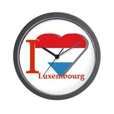 I love Luxembourg Wall Clock