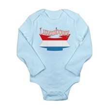 Luxembourg ribbon Long Sleeve Infant Bodysuit
