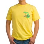Yellow T-Shirt for a True Blue Michigan LIBERAL