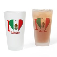 I love Mexico Drinking Glass