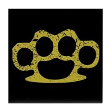 Brass Knuckles Tile Coaster