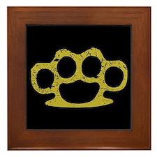 Brass Knuckles Framed Tile