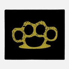Brass Knuckles Throw Blanket