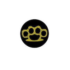 Brass Knuckles Mini Button