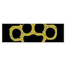 Brass Knuckles Bumper Bumper Sticker