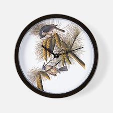 Audubon Crested Titmouse Wall Clock